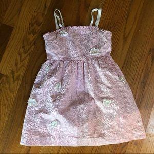 LILLY PULITZER girls Pink Stripe Floral Dress
